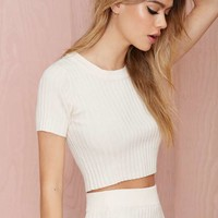 Knitz by For Love & Lemons Back to Basics Crop Top