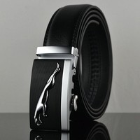 Sales promotion! Cheetah automatic buckle leather belts Fashion men belt cowhide belts for men
