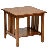 OSP Designs Sierra Mission End Table In Oak Finish