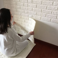 2016 NEW White 3D Modern Design Brick Wallpaper Roll Vinyl Wall Covering Wall Paper Living Room Dinning Room Store Background