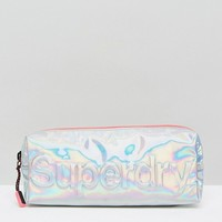 Superdry Holographic Jelly Pencil Case at asos.com