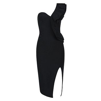 Ailyn- Side Slit Bodycon Dress