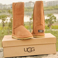UGG Women Fashion Wool Snow Boots Calfskin Shoes Tagre™