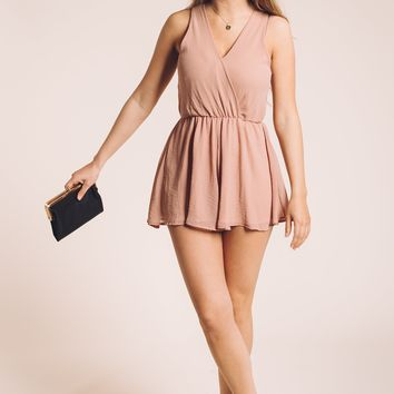 Blushing Beauty Romper in Pink