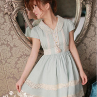 [Free Shipping to USA] Blue Denim Dress - JU2005
