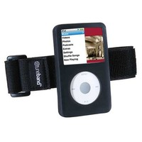 TuneBand for iPod classic (Model A1238, 80GB/120GB/160GB), Black, Grantwood Technology's Armband and Silicone Skin