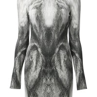 Alexander McQueen fox print pencil dress