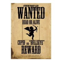 Cupid Wanted Poster Valentine Day Party Invitation from Zazzle.com