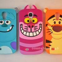 Disney Cartoon Sully cat Silicone Cover Case For Samsung GalaxyS4 S5 I9500 NOTE3