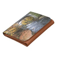 Autumn Scenery Leather Wallet