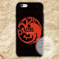game of thrones targaryen fire blood iPhone 4/4S, 5/5S, 5C Series, Samsung Galaxy S3, Samsung Galaxy S4, Samsung Galaxy S5 - Hard Plastic, Rubber Case