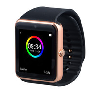 Smart Watch GT08 Clock Sync Notifier Support Sim Card Bluetooth Connectivity Apple iphone Android Phone Smartwatch Watch T50