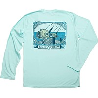 Saltwater Reels Long Sleeve Wicking Tee Shirt in Seagrass by Fripp & Folly