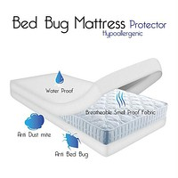 Remedy Bed Bug Dust Mite Cotton Mattress Protector- Queen