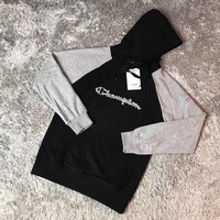 Champion Woman Men Fashion Embroidery Hoodie Top Sweater Pullover-1