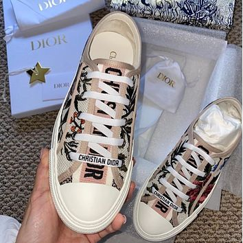 DIOR Canvas embroidery casual shoes