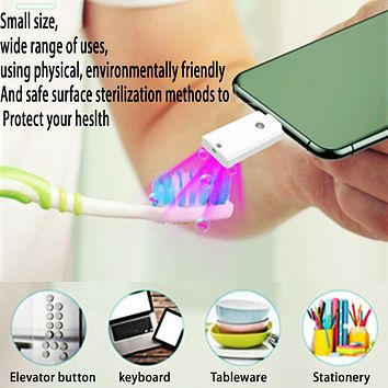 USB small handheld disinfection lamp portable uvc ultraviolet disinfection stick sterilization stick