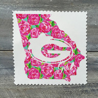 Lilly Pulitzer Inspired Georgia Vinyl Decal Sticker, Georgia, Car Sticker, Lilly Pulitzer Sticker, Georgia Sticker, Georgia Decal, Vinyl