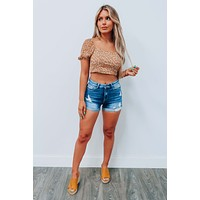 Marigold Blooms Cropped Top: Multi