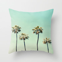 Palm Trees  Throw Pillow by Bree Madden