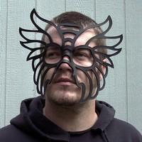 Taurus Leather Mask in Black by TomBanwell on Etsy