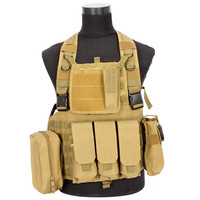 Tactical Vest CS Airsoft Hunting Special Combat Holster Pouch   khaki
