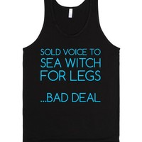 Sold Voice to Sea Witch...Bad Deal-Unisex Black Tank