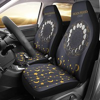 Moon Phases Chart Car Seat Covers