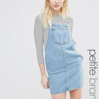 New Look Petite | New Look Petite Denim Pinny Dress at ASOS