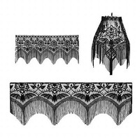Skull and Bats Lace 4 Way | Halloween at Sin in Linen