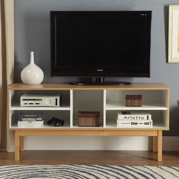 Acme 90168 Drivia retro modern natural ivory finish wood tv stand