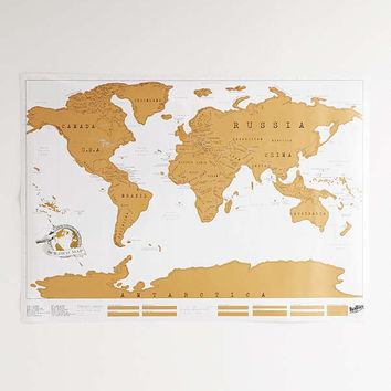 World Scratch Map | Urban Outfitters