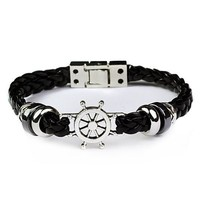 Shiny Gift Hot Sale Stylish Awesome New Arrival Great Deal Black Ring Handcrafts Men Accessory Bracelet [6526714755]