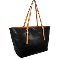 Basic Fashion Tote Bag Purse Black