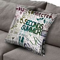 5 seconds of summer collage art pillow case, Custom Square Pillow Case popular