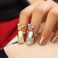 Shiny Jewelry New Arrival Gift Stylish Butterfly Ring [6573109831]