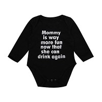 0-24M Newborn Baby Boy Girl Long Sleeve Letter Print Cotton Clothes Toddler Kids Jumpsuit One Pieces Outfits