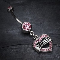 'Spoiled' Heart Sparkle Belly Ring