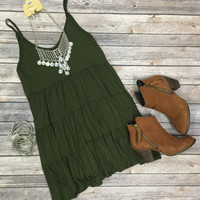 Sweet Talk Tunic: Olive