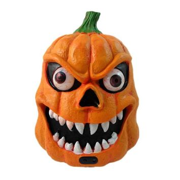 Horror LED Halloween Decor Pumpkin Lantern Light Sound Sensors Built-In Soundings Batteries Party Decoration Prop Party Supplies