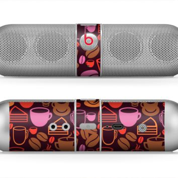 The Vector Orange & Pink Coffee Time Skin for the Beats by Dre Pill Bluetooth Speaker