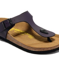 Men's and Women's BIRKENSTOCK sandals  Gizeh Birko-Flor Patent 632632288-031