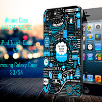 Amazing little graphic Samsung Galaxy S3/ S4 case, iPhone 4/4S / 5/ 5s/ 5c case, iPod Touch 4 / 5 case