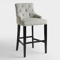 Dove Gray Lydia Upholstered Barstool