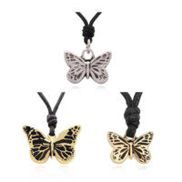 Butterfly Insect Handmade Brass Necklace Pendant Jewelry