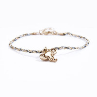 Elephant Head Plaited Charm Bracelet at Urban Outfitters