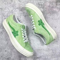 2018 New One Star x Golf Le Fleur TTC Solar Yellow Sneaker Trainers Shoes Casual Shoes Light Shoes With Box