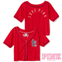 St. Louis Cardinals Victoria's Secret PINK® Crop Baseball Jersey
