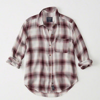 Womens Drapey Plaid Shirt | Womens New Arrivals | Abercrombie.com
