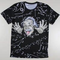 All over print Einstein Math Spiderman New York Gorillaz Phantom Batman Lord Voldemort Harry potter tee t-shirt